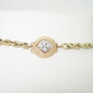 Jewelry - 10K Gold .20ctw Diamond Ladies Ankle Bracelet